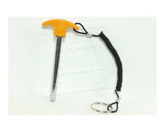 Weight Pin W/ Tether, Yellow Handle - Click for larger picture