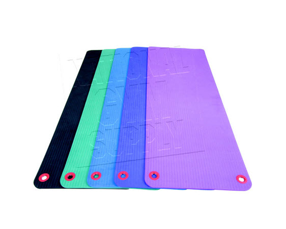 "Fitness Mat W/Eyelets 3/8""X23""X69""  Plum - Click for larger picture"